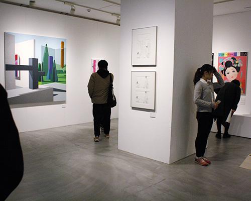 実空間の作品展示